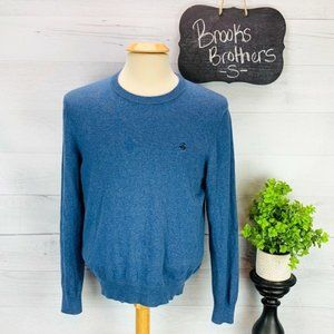 Brooks Brothers Sweater Cotton Cashmere Blue